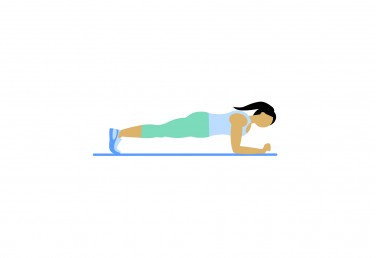 Illustration of a woman doing a forearm plank