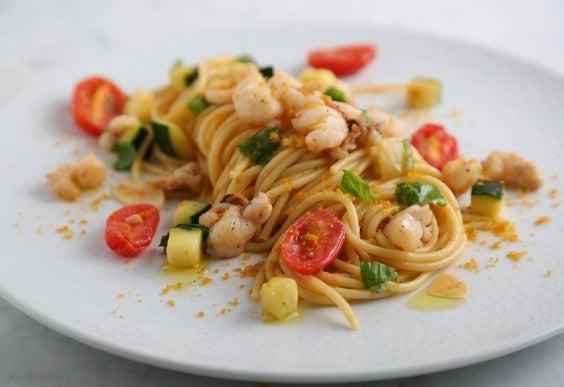 Barilla Thick Cut Spaghetti With Lobster