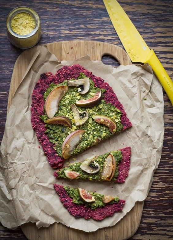 veg as carbs: Beet Pizza