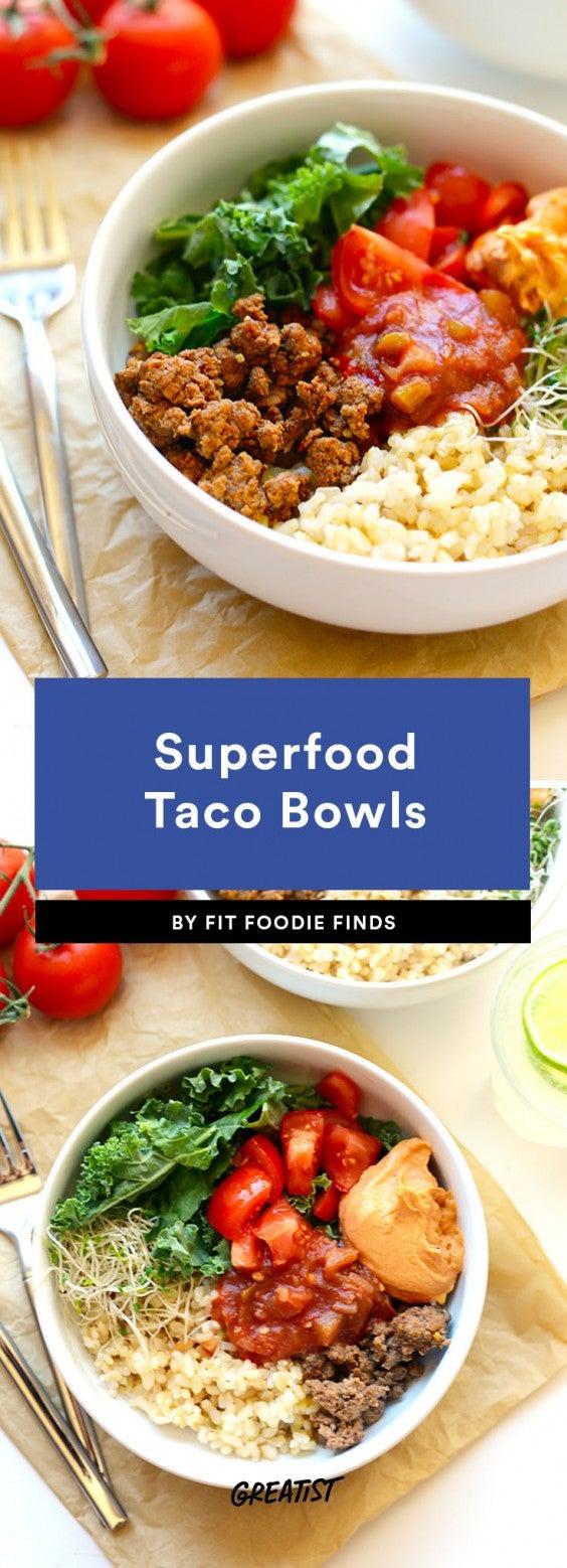 taco bowls: superfood beef