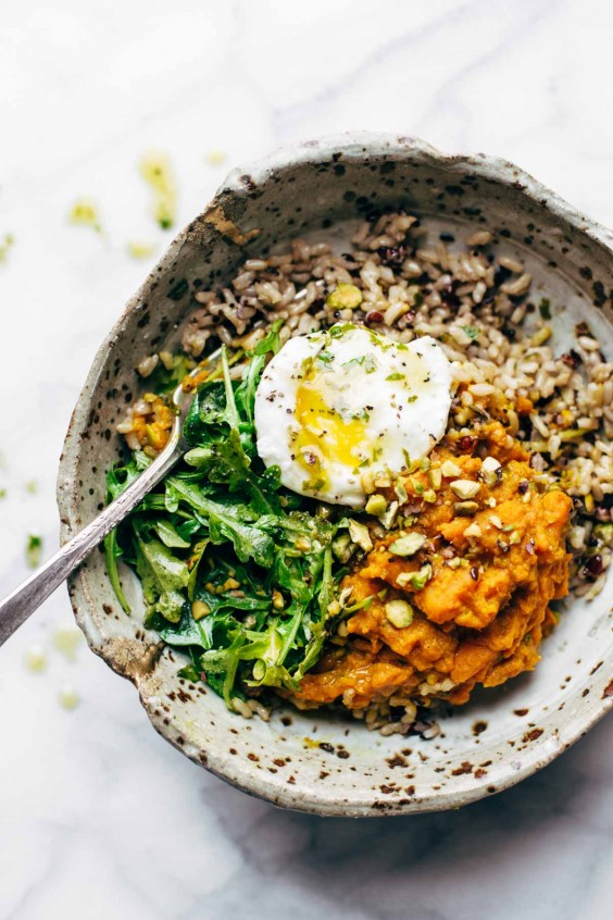 Buddha bowls: Turmeric Sweet Potato