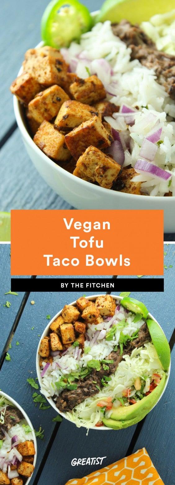 taco bowls: tofu