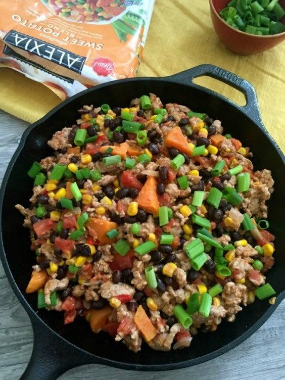 3.Turkey Sweet Potato Black Bean Skillet