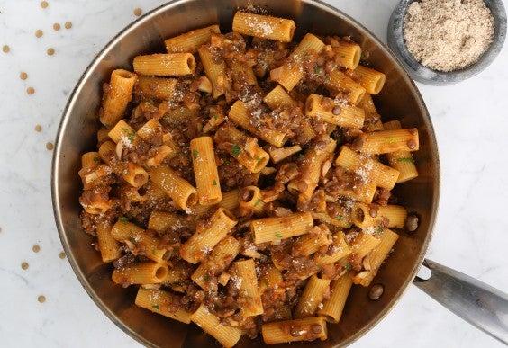 Barilla Rigatoni Vegan Bolognese