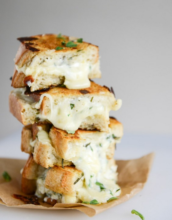 1. White Pizza Grilled Cheese