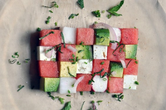 8. Avocado Watermelon Salad