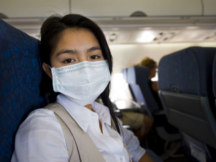airplane surgical mask